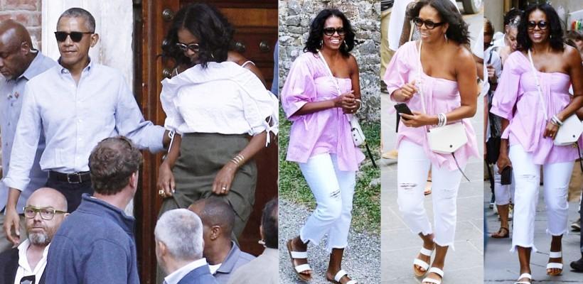 Barack o sorbește din priviri. Michelle Obama afișează look-uri îndrăznețe într-o vacanță în stil italian
