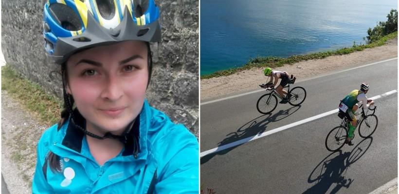 O tânără de 22 ani din satul Sloveanca a luat locul întâi la triatlonul din Muntenegru