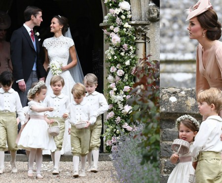 Sora Ducesei de Cambridge s-a căsătorit! George și Charlotte au împrăștiat petale (FOTO)