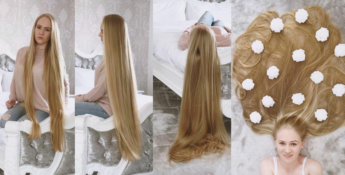 O fată din Regatul Unit e tot mai des asociată cu Rapunzel. Ce o ajută să aibă un păr atât de frumos