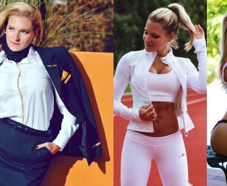 O tânără stewardesă din Germania arată lumii cât de important este sportul și modul sănătos de viață