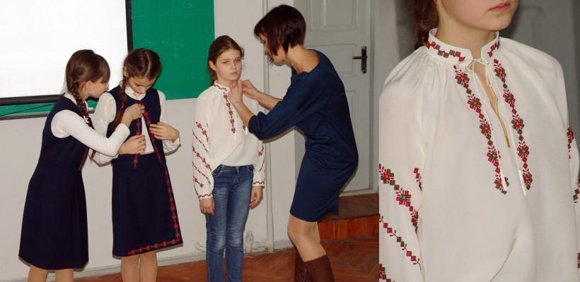O studentă a UTM a creat primele uniforme școlare inspirate din costumul tradițional moldovenesc