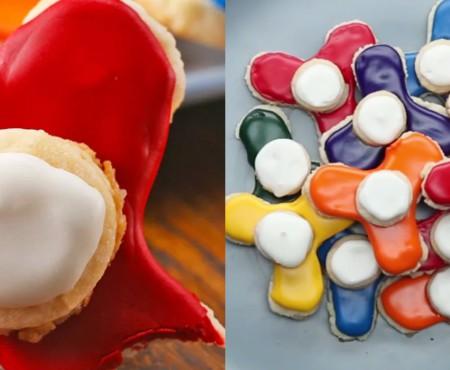 Surprinde-ți copilul cu biscuiți în formă de Fidget Spinner! Vor deveni gustările lui preferate
