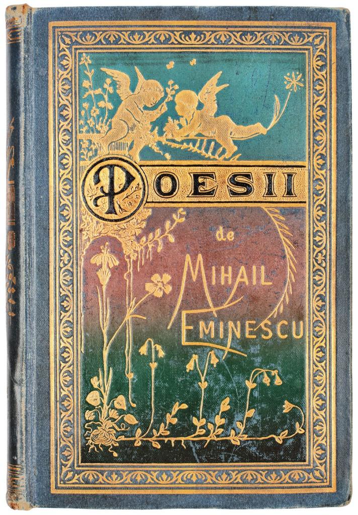 Poesii de Mihail Eminescu, Bucuresti, editura Socec, 1884, editia Princeps in coperta originala