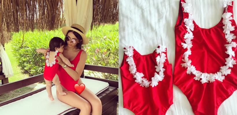 O nouă tendință în materie de fashion! Elena Bivol prezintă costumele de baie mamă-fiică
