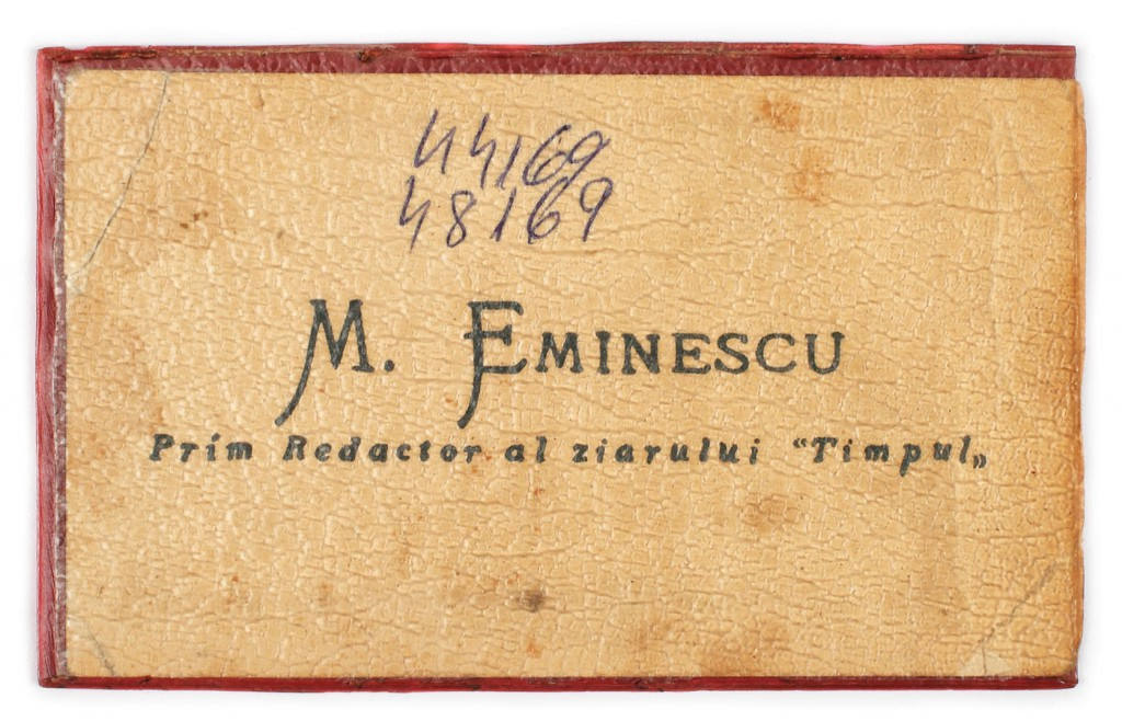 cartea de vizita a lui M. Eminescu