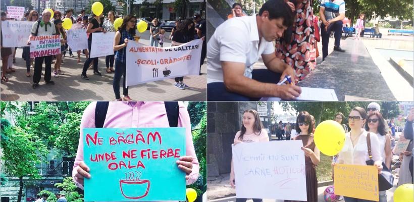 """""""Taci și Mănâncă"""" – marșul inițiat împotriva inacțiunii statului în ceea ce privește asigurarea unei alimentații de calitate"""