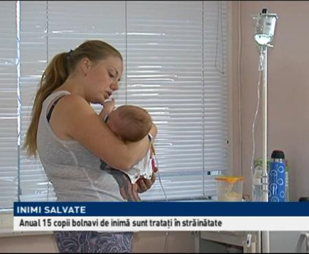 15 copii bolnavi de inimă care sunt trataţi anual în străinătate, o pot face gratuit acasă