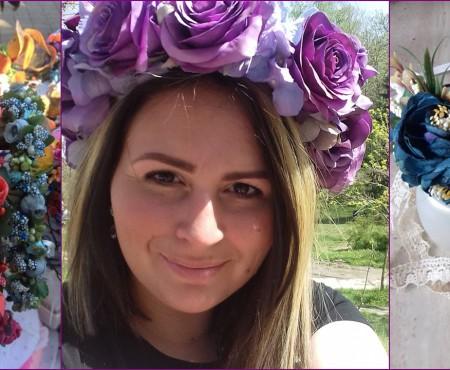 Poartă coroane de flori care nu se vor ofili niciodată! O artistă hand-made de la noi ne povestește cum le creează (Foto)