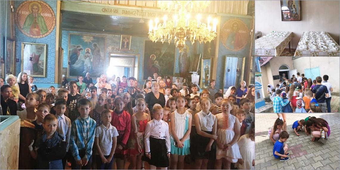 De Ziua Copiilor, Biserica de la Ghidighici a fost neîncăpătoare! Peste 150 de copii i-au pășit pragul