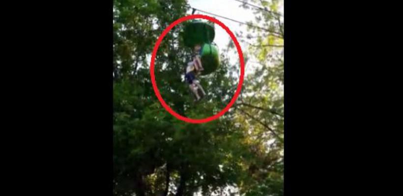 O adolescentă a fost prinsă de trecători, căzând dintr-o telegondolă