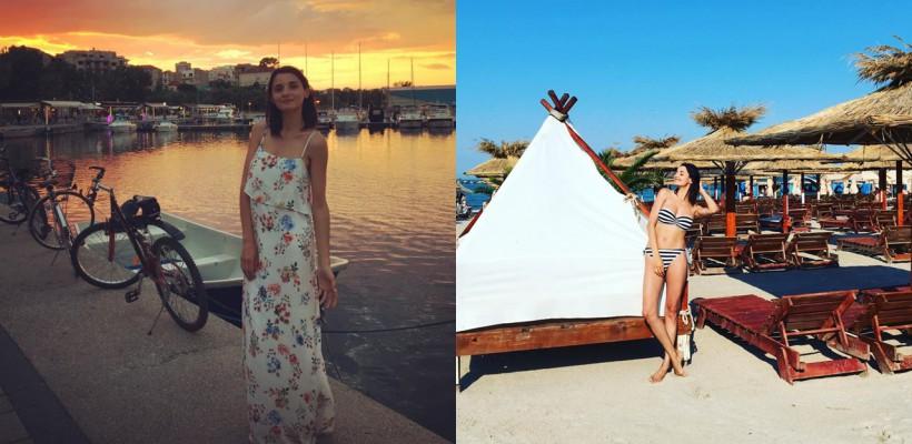 Lilu își afișează în premieră silueta, după cea de-a doua naștere! Frumoasa mămică apare în costum de baie pe plajele din Mamaia