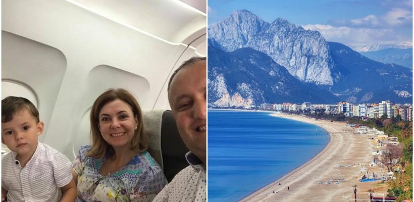 Președintele țării, Igor Dodon, și-a dus familia la mare în Turcia