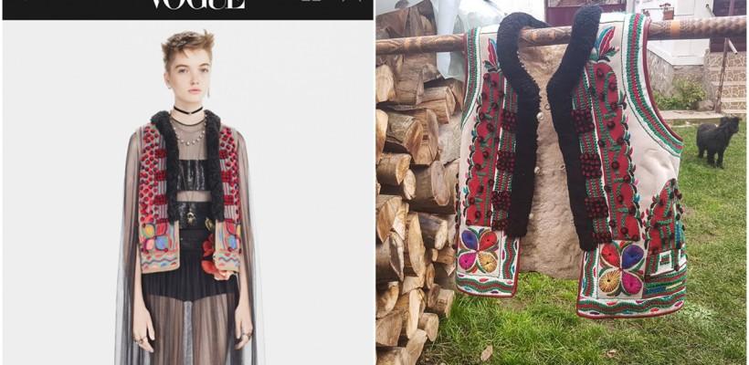 """La Blouse Roumaine bate din nou alarma! Casa Dior ar fi copiat o haină tradițională românească – un """"cojoc binşenesc"""""""