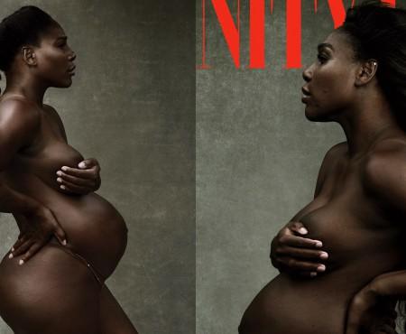 Însărcinată în ultimul trimestru, Serena Williams a pozat nud pentru o revistă americană (FOTO)