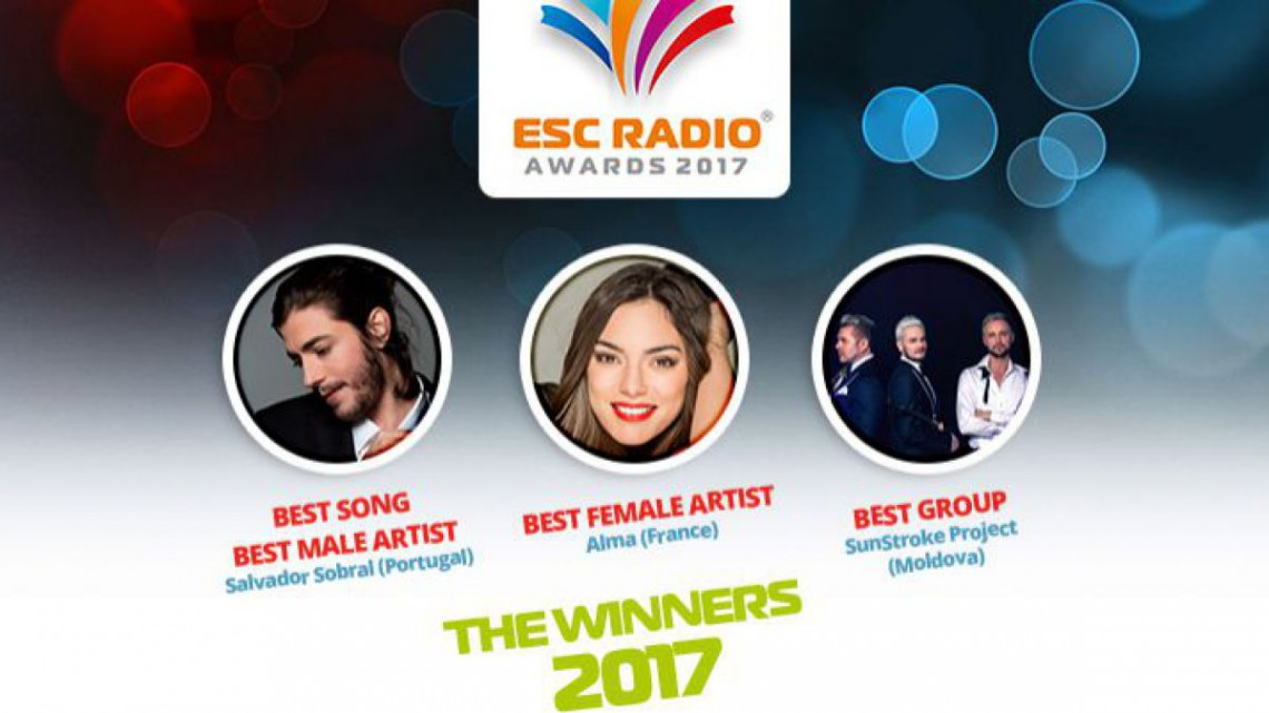 """SunStroke Project, declarați """"Cea mai bună formație"""" la ESC Radio Awards 2017"""