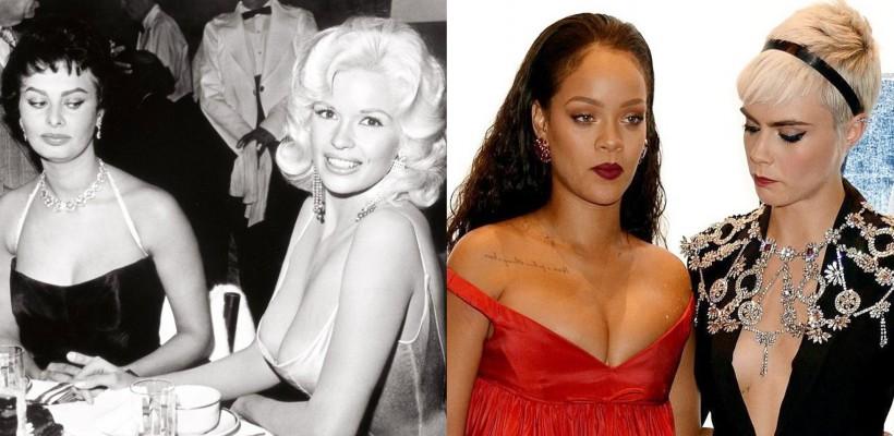 Rihanna și Cara Delevingne au reprodus, fără să fi vrut, o scenă hollywoodiană din anii '50 (FOTO)