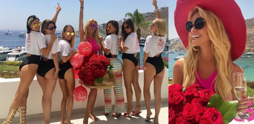 Logodnica lui Baskov a organizat o Petrecere a Burlăcițelor de ziua ei, pe o insulă grecească (FOTO)