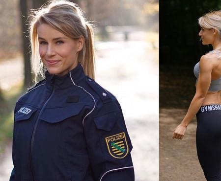 Probabil cea mai sexy apărătoare a legii! O polițistă din Germania cucerește spațiul virtual cu imaginea sa