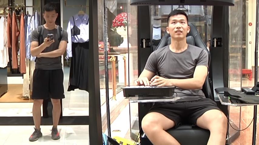 Odăi de așteptare pentru bărbați – asta a apărut într-un centru comercial din China! (VIDEO)