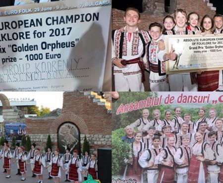 """Călărășenii de la Ansamblul de dans """"Codrenii"""" au adus Grand Prix-ul din cadrul unui festival european"""