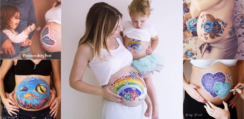 Inspirată de propria sarcină, o mămică din Spania pictează fabulos burticile gravidelor (FOTO)