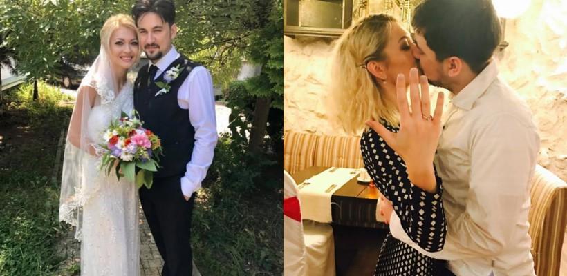 Gloria Gorceag și Vitalie Catană și-au unit destinele! Ce rochie a purtat mireasa
