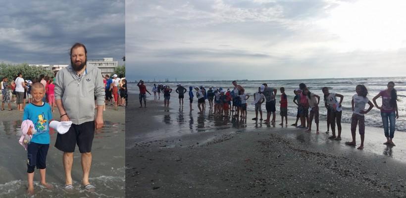 Un preot din Iași a dus 120 de copii la mare, cu ajutorul enoriaşilor şi al sponsorilor (FOTO)