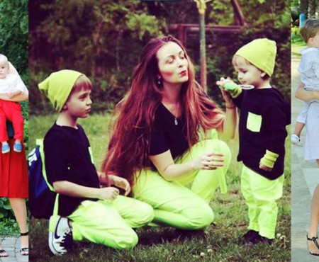 """""""Nu am o fiică și mă asortez cu băieții!"""" O mămică din Capitală creează ținute mamă-fiu (FOTO)"""