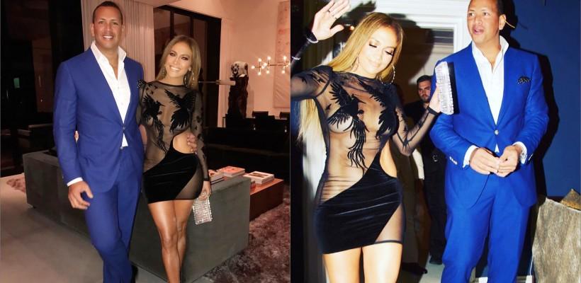 Jennifer Lopez și iubitul său și-au organizat o aniversare comună. A fost o seară pasională (FOTO)