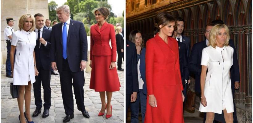 """Donald Trump către Prima Doamnă a Franței: """"Ești într-o formă atât de bună"""""""