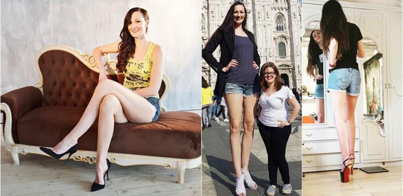 Rusoaica Ekaterina Lisina e cea mai înaltă fată din industria modei. Ce înălțime măsoară (FOTO)