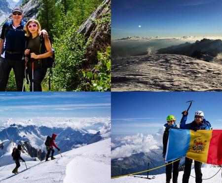 Entuziasm și euforie! Ion Sturza a cucerit vârful Mont Blanc alături de familia sa (FOTO)