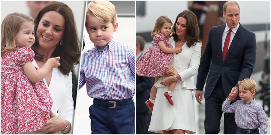 Noi fotografii cu prinții George și Charlotte! Își însoțesc părinții într-o vizită regală (FOTO)