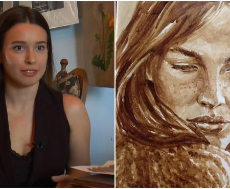 Milena Gorobic e creatoarea celor mai frumoase și gustoase riduri, zâmbete și priviri. Ea te pictează în cafea