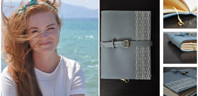Unele jurnale confecționate manual de către designerul Sofia Istrati cuprind foi cu o vechime de peste 20 ani