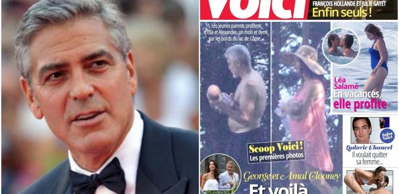 George Clooney dă în judecată revista care a publicat prima poză cu gemenii săi