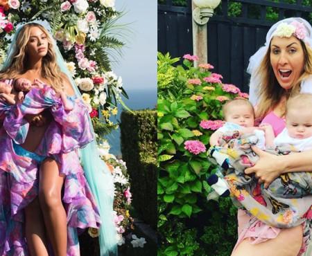 Pe Instagram apar tot mai multe parodii pentru prima fotografie a lui Beyoncé alături de gemenii săi