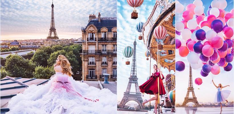 Vera Brejneva – protagonista unei ședințe foto de vis, în inima Parisului (FOTO)