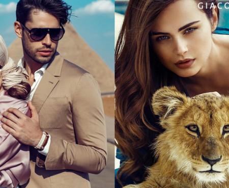 Xenia Deli – eroină în campania unui brand de bijuterii. Ține în brațe un pui de leu (FOTO)