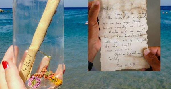 Mesajul lăsat într-o sticlă de un cuplu britanic a ajuns la un pescar după o călătorie de 800 km, pe mare