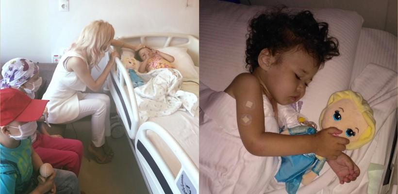 Andreea Bălan a vizitat o fetiță bolnavă de cancer, din Republica Moldova