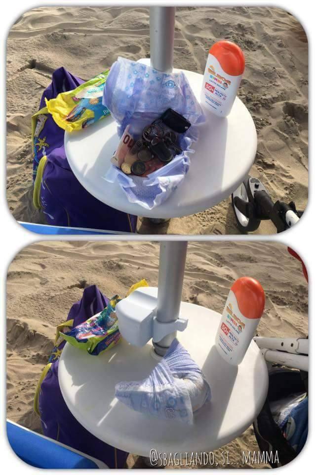 ascunde lucrurile la plaja
