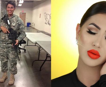 Ieri – femeie-soldat; azi – beauty bloggeriță! O tânără din SUA a schimbat armele pe cosmetice