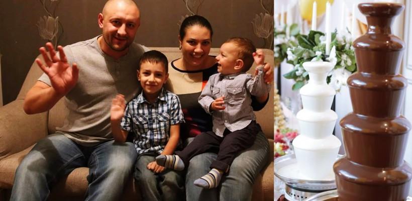 """Doi soți din Capitală aduc """"fântâna"""" de ciocolată belgiană la nunți, cumetrii și petreceri corporative"""