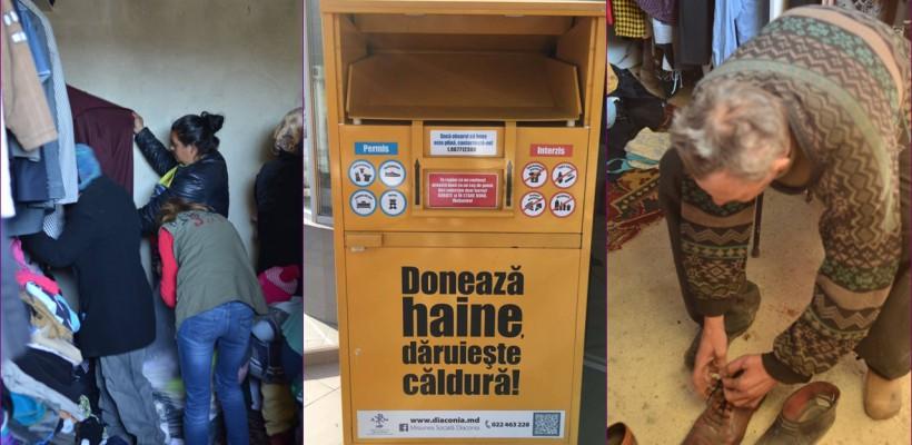 """Diaconia face bilanțul pentru """"Banca de haine"""". Aflați câte tone de haine donează lunar moldovenii"""