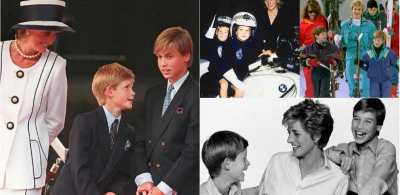 Viața prinților William și Harry, atunci când prințesa Diana era în viață. Fotografii de colecție