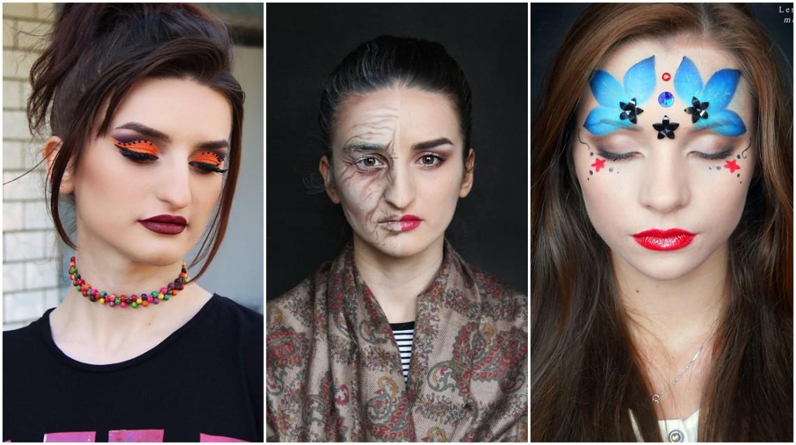 """Talent și pasiune. Vloggherița și make-up artista Elena Borta iese din tiparele machiajului clasic: """"Îmi place să mă evidențiez prin creativitate"""""""