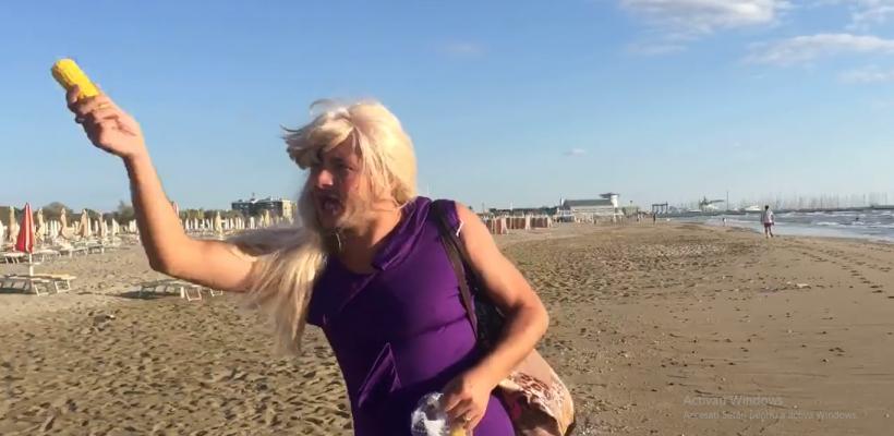 """Emilian Crețu promovează """"popușoiul fiert"""" de pe o plajă din Italia (Video)"""