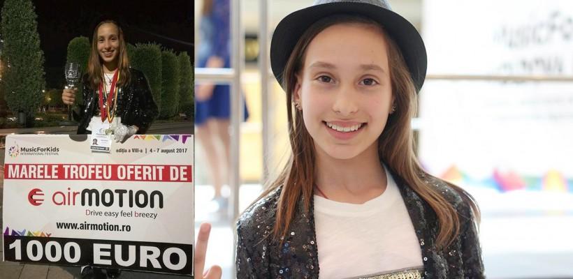 O adolescentă din s. Țaul a readus în Moldova trofeul Festivalului Internațional MusicForKids! Cunoaște-o pe Inesa Vexler